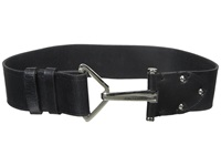 Vince Camuto 2 Adjustable Veg Panel With Hook Closure Belt Black Women's Belts