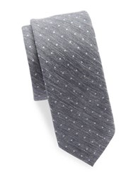 Original Penguin Silk And Cotton Tie Navy