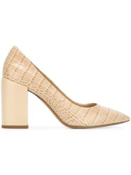 Paul Smith Ps By 'Lin' Crocodile Effect Pumps Nude And Neutrals
