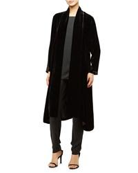 Eileen Fisher Washable Velvet Kimono Jacket Black