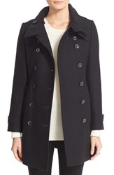 Burberry Women's Brit 'Daylesmoore' Wool Blend Double Breasted Trench Coat