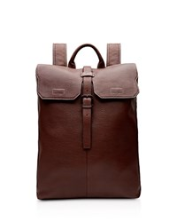 Ted Baker Earth Leather Backpack Dark Tan