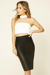 Forever 21 Contemporary Faux Leather Skirt Black