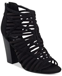 G By Guess Jelus Caged Sandals Women's Shoes Black
