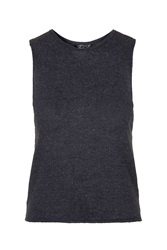 Topshop Knitted Tank Top Navy Blue