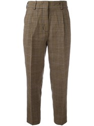 3.1 Phillip Lim Cropped Houndstooth Trousers Nude Neutrals