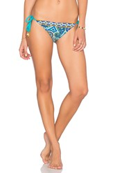 Trina Turk Tie Side Hipster Bottom Blue