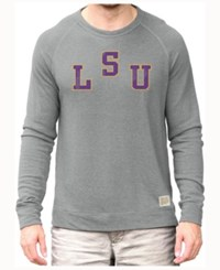 Retro Brand Men's Lsu Tigers Quad Crew Sweatshirt Gray