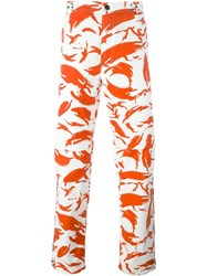 Mhi Maharishi Camouflage Loose Fit Trousers Yellow And Orange