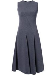 Le Ciel Bleu Pleated Sleeveless Dress Grey