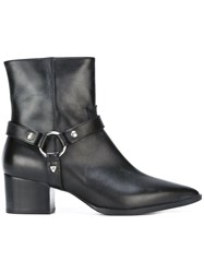 Htc Hollywood Trading Company Buckle Strap Ankle Boots Black