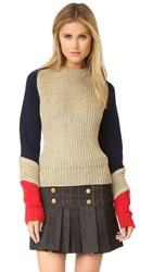 Hilfiger Collection Off Duty Sweater Pale Gold Multi
