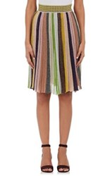 Missoni Women's Metallic Striped Skirt Pink