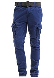 Schott Nyc Beach Cargo Trousers Indigo Dark Blue