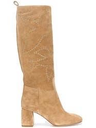 Red Valentino Knee High Boots Nude Neutrals