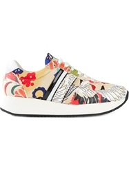 Carven Floral Print Sneakers Multicolour