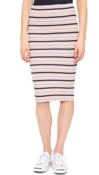 Three Dots Mayra Tubular Skirt Night Iris Combo