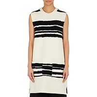 Proenza Schouler Women's Broken Striped Sleeveless Tunic Black White Black White