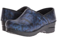 Sanita Original Pro Cobalt Blue Camo Women's Clog Shoes