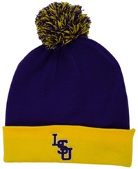 Top Of The World Lsu Tigers 2 Tone Pom Knit Hat