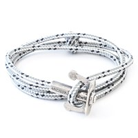 Anchor And Crew Union Rope And Silver Bracelet Grey Dash