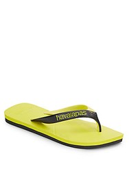 Havaianas Colorblock Thong Sandals Neon Yellow