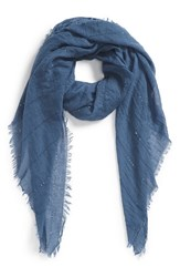 Women's Echo Sequin Embellished Crinkle Wrap Blue Denim