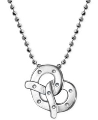 Little Cities By Alex Woo Pretzel Pendant Necklace In Sterling Silver