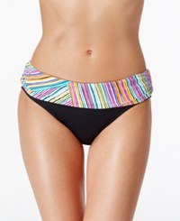 Anne Cole Multi Stripe Foldover Hipster Bikini Bottom Women's Swimsuit