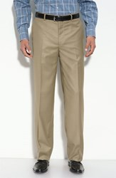 Men's Big And Tall Linea Naturale 'Travel Genius Hawk' Flat Front Pants