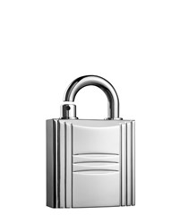 Hermes Refillable Lock Spray Silver Tone