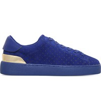 Nine West Palyla Suede Trainers Blue Dark