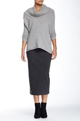 14Th And Union Longline Ponte Pencil Skirt Gray