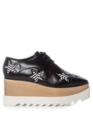 Stella Mccartney Elyse Lace Up Platform Shoes Black White