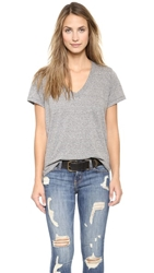 Current Elliott The V Neck Tee Heather Grey