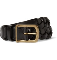Polo Ralph Lauren 2.5Cm Black Braided Leather Belt