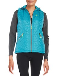 New Balance Hooded Performance Vest Sea Glass