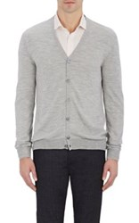 Zanone Men's V Neck Cardigan Grey