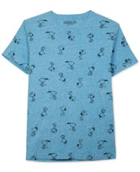 Jem Men's Snoopy Attitude Graphic Print T Shirt Methyl Blue