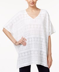 Alfani Lace Poncho Top Only At Macy's Bright White