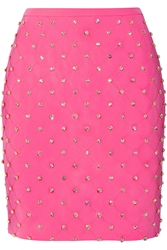 Moschino Embellished Quilted Crepe Mini Skirt