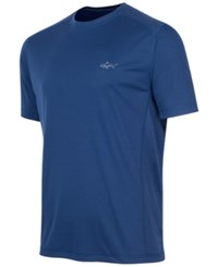 Greg Norman For Tasso Elba Men's Embossed T Shirt Only At Macy's Blue Socket