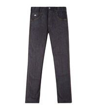 Emporio Armani Raw Vintage Slim Jeans Male Blue