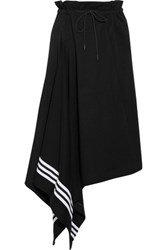 Y 3 Luxft Asymmetric Cotton Skirt Black