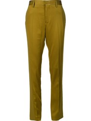 Haider Ackermann High Waisted Trousers Green