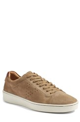 Vince Men's 'Simon' Perforated Sneaker Flint Mid Brown Suede