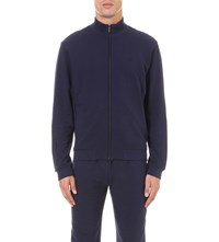 Z Zegna Zip Up Cotton Blend Jacket Blue