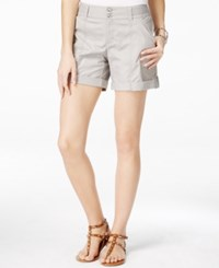 Inc International Concepts Cuffed Twill Shorts Only At Macy's Sky Grey