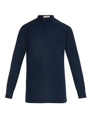 Balenciaga Clasp Collar Cotton Shirt