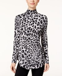 Jm Collection Animal Print Turtleneck Top Only At Macy's Neutral Cheetah